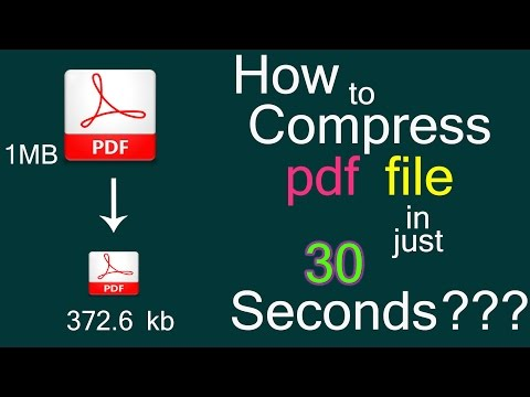 How To Compress Pdf File In 10 Seconds || 2019|| ENGLISH || HINDI ||