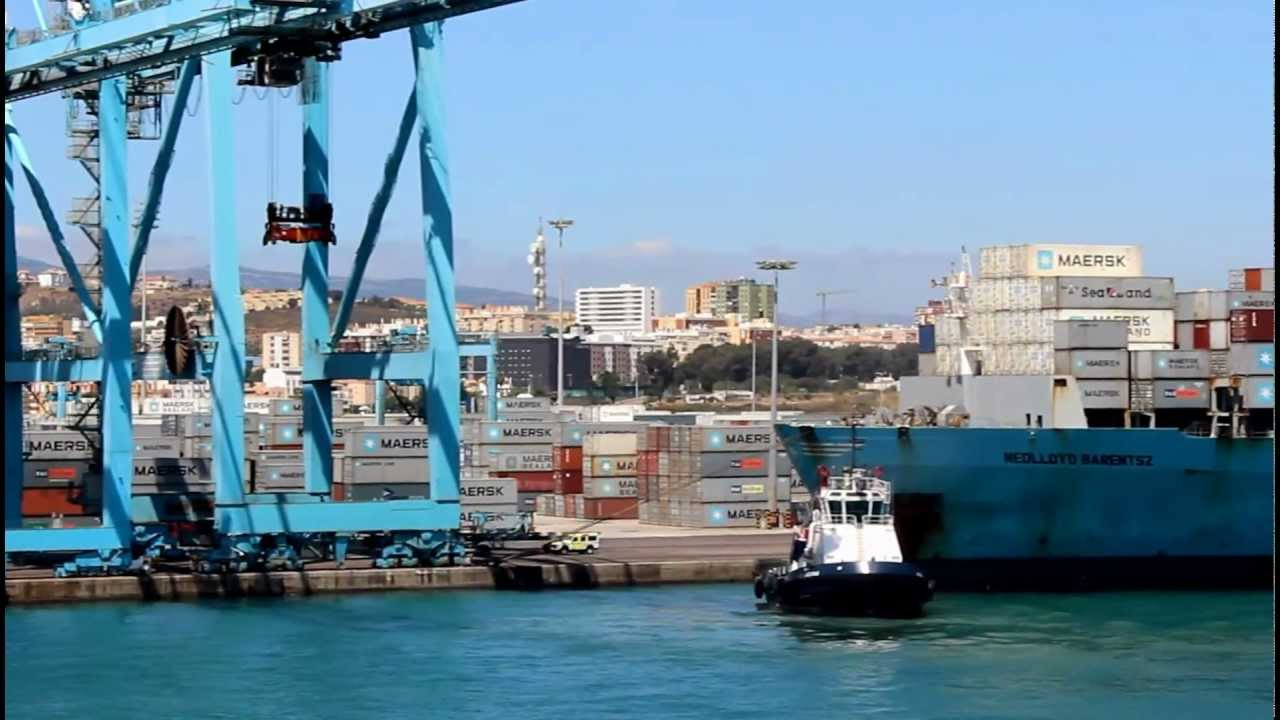 Puerto de algeciras espa a algeciras port youtube - Puerto de algeciras hoy ...