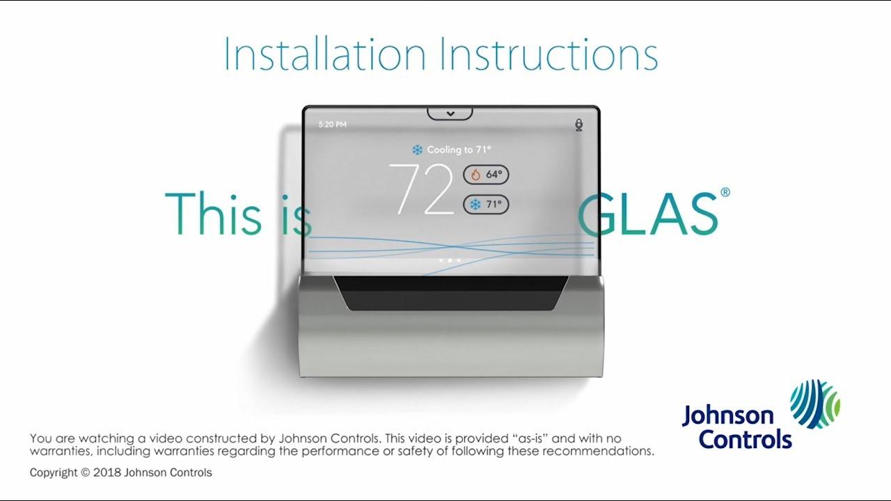 install glasJohnson Controls Thermostat Wiring Diagram #6