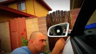 Audi a4 2008 b7 how to mirror replacement and mirror cap