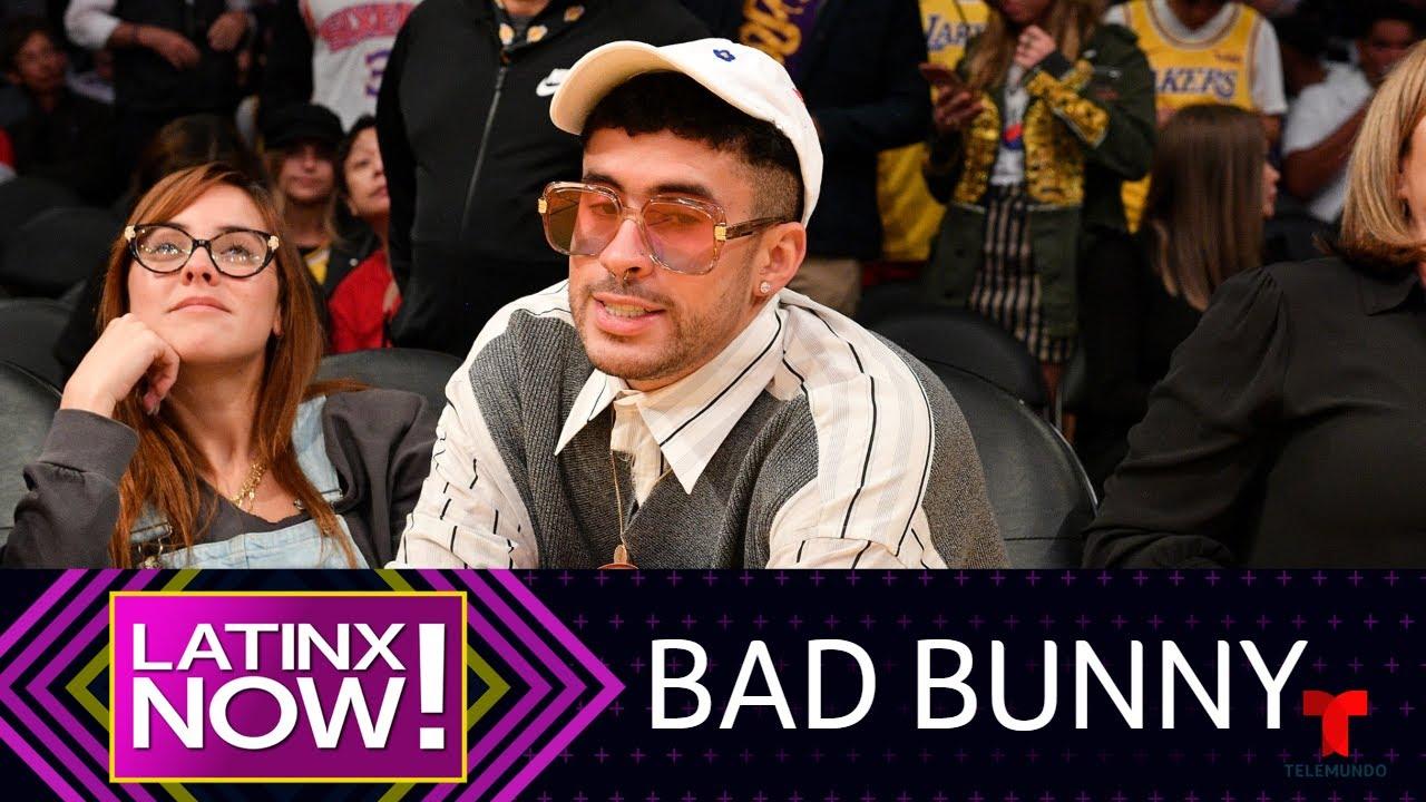 Bad Bunny se divierte besando con pasin a su novia vestido de ...