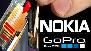 Change display  Nokia 100, 108, 112, 113, 130, 1800, 1616, 1280, 1661 - process of soldering iron