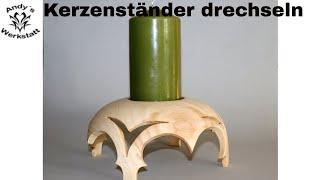 DIY - Kerzenständer selber machen aus Birnenholz - Unikat/Einzelstück