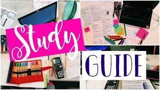 HOW TO MAKE A STUDY GUIDE | Study with Me 2017