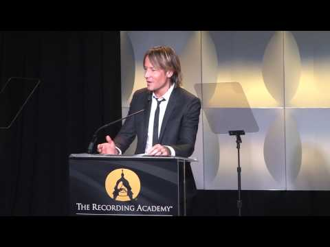 Keith Urban accepts the Grammys on the Hill honor