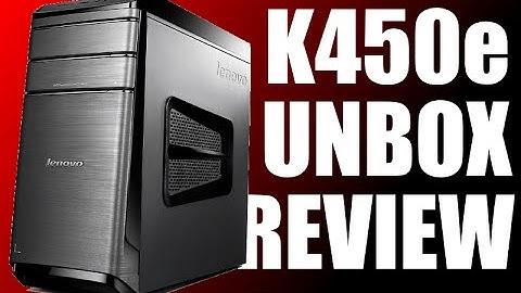 Lenovo K450e Performance Desktop Computer Unboxing + Review!