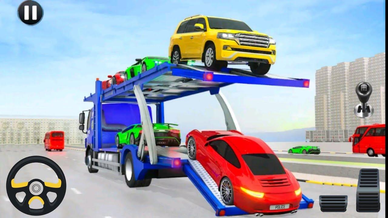 صورة فيديو : محاكي نقل السيارات العاب اطفال سيارات – سيارات اطفال- لعبة اطفال – لعبة Crazy car transport
