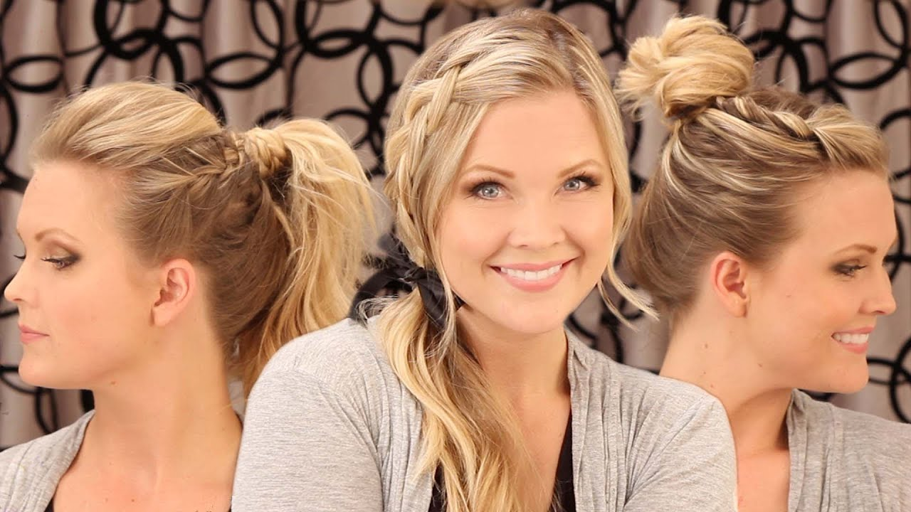 3 Quick Everyday Hairstyles!! - YouTube