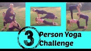 3 Person Yoga Challenge