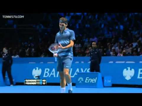 Novak Djokovic Vs Federer Barclays ATP World Tour Finals 2013 Round-Robin 1st Set