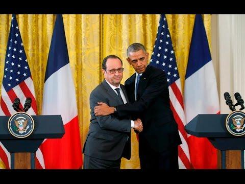 Attentats de Paris : Conférence de presse de François Hollande et Barack Obama