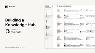 Notion Office Hours: BuiĮding a Knowledge Hub 🔖