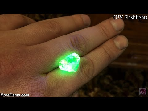Glowing Gemstones -  Faceting Hyalite Opal