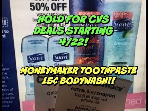 CVS 4/22 🔥 DEALS ~ Moneymaker Colgate & 15¢ Body Wash!!!