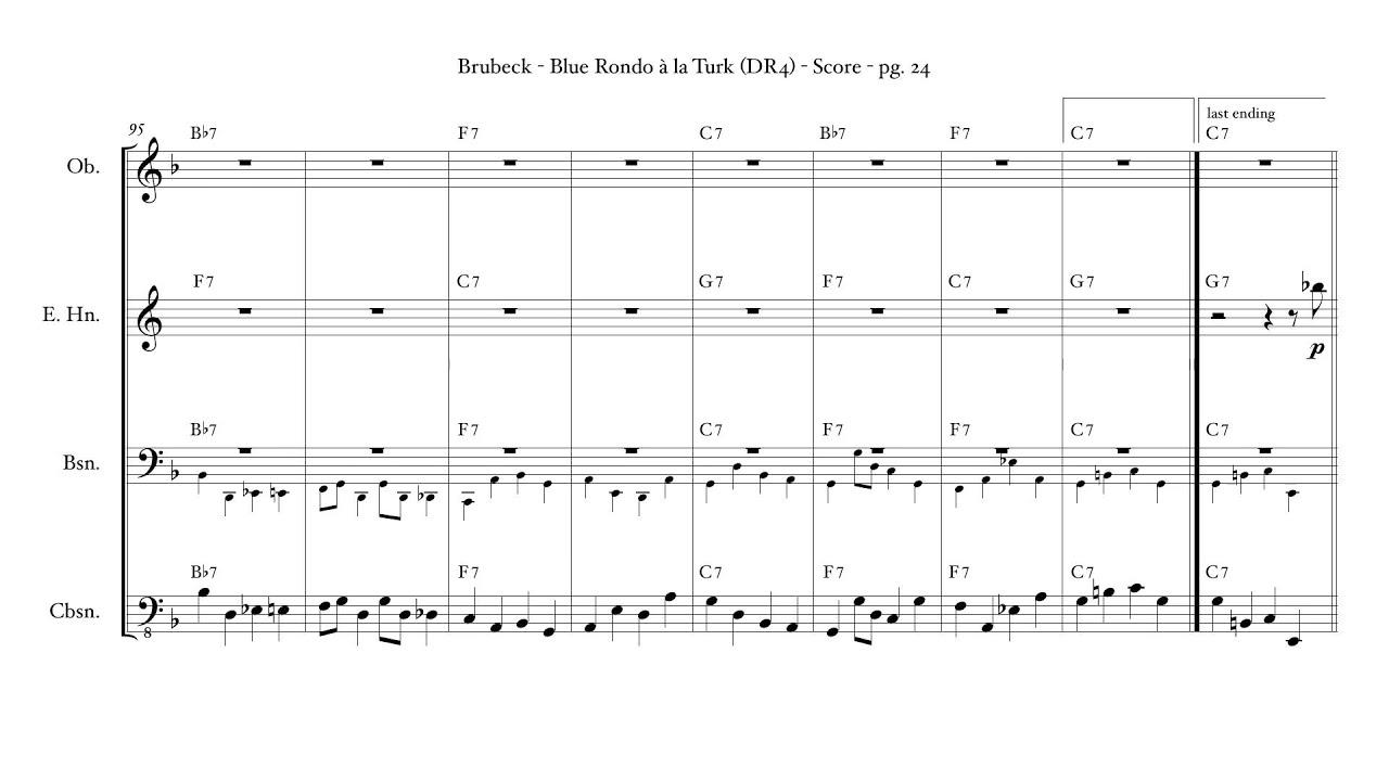 Blue Rondo à La Turk Double Reed Quartet