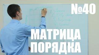 Как расставлять приоритеты в задачах.  Уроки-тайм менеджмента  №40.  Матрица Порядка