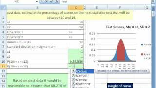 how to draw bell curve in excel 2010