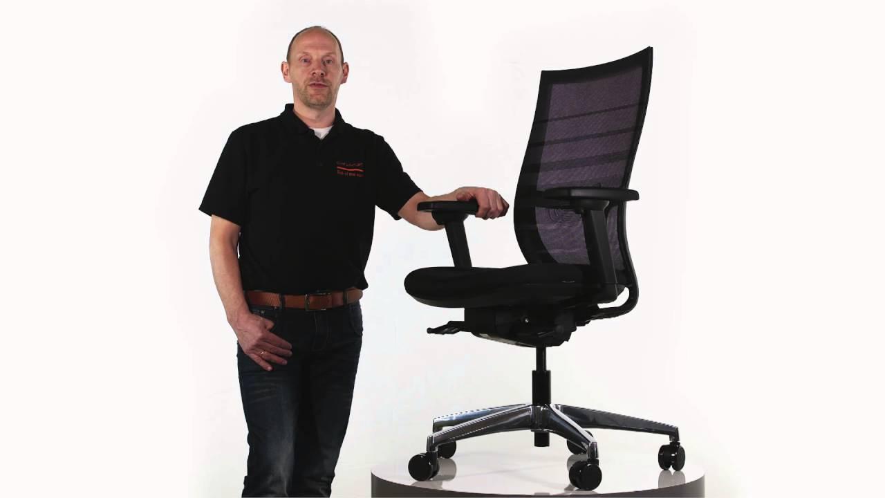 Bureaustoel Met Lendesteun.Bureaustoel Deluxe Lendensteun Zwart Youtube