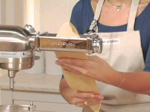 Kitchenaid Stand Mixer Pasta Roller Attachment Youtube