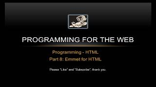 EMMET THE AMAZING TOOL FOR EASIER AND FASTER HTML AND CSS!! - Programming for the Web