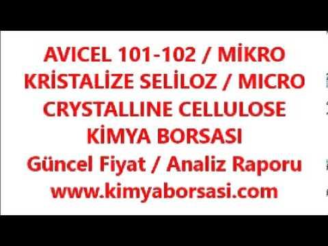 AVICEL 101-102 / MİKRO KRİSTALİZE SELİLOZ / MICRO CRYSTALLINE CELLULOSE
