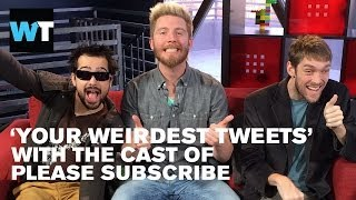 Please Subscribe Cast Respond To Weird YouTube Comments | What's Trending LIVE