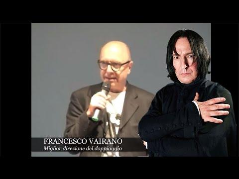 FRANCESCO VAIRANO, la voce di Severus Piton | enciclopediadeldoppiaggio.it