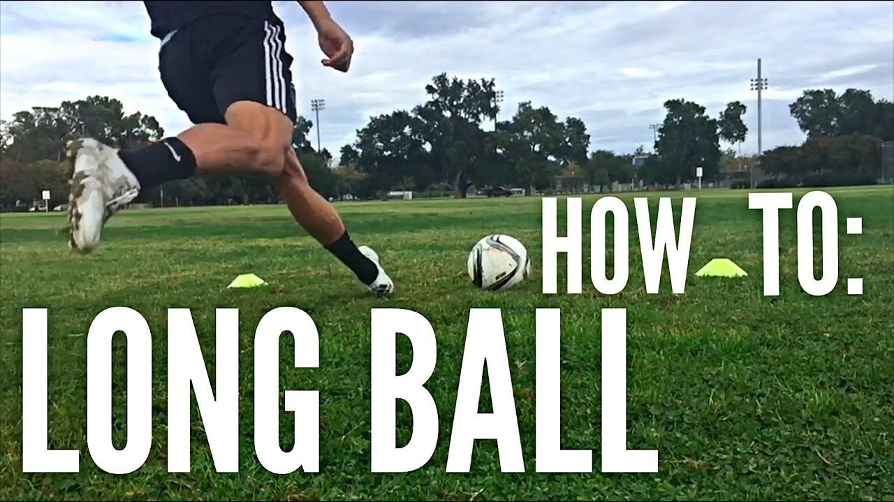 How To Hit A Long Ball In Soccer Football Youtube