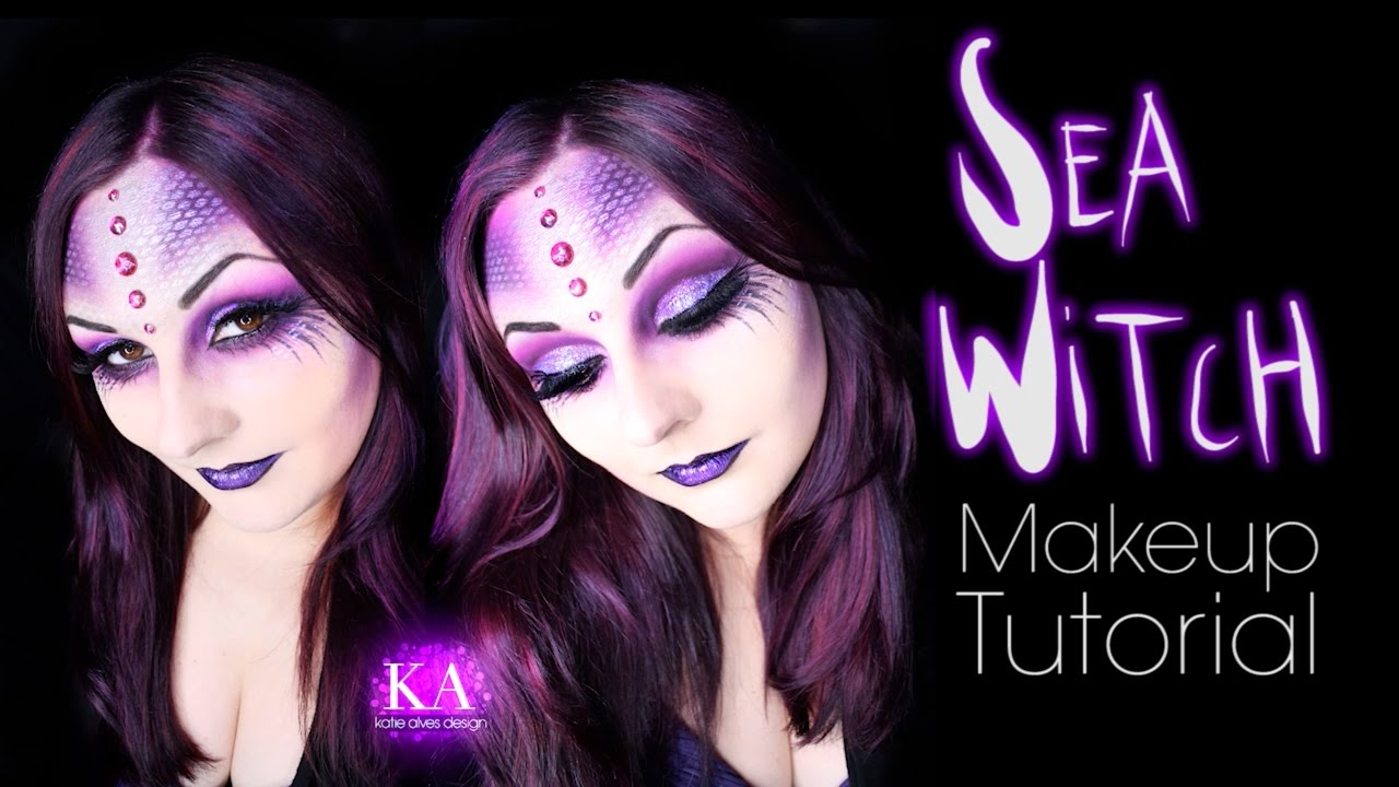 Sea Witch Halloween Makeup Tutorial - 31 Days of Halloween - YouTube