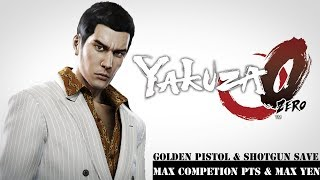 Yakuza 0 | Max Completion Points & Max Yen | Golden Pistol & Shotgun Save