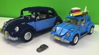 LEGO VOLKSWAGEN BEETLE 10187, 10252, 1960s Comparison
