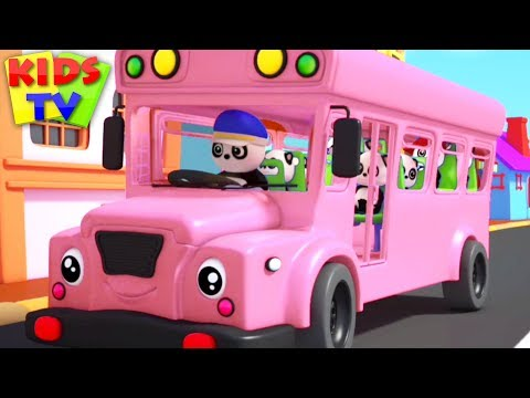 Wheels On The Bus | Baby Bao Panda Cartoons | Nursery Rhymes For Children By Kids TV