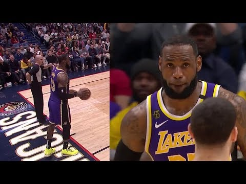 With 1:26 left to play, up 6, LeBron forgets to inbound the ball