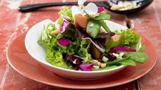Легкий салат из овощей. Веганский салат.