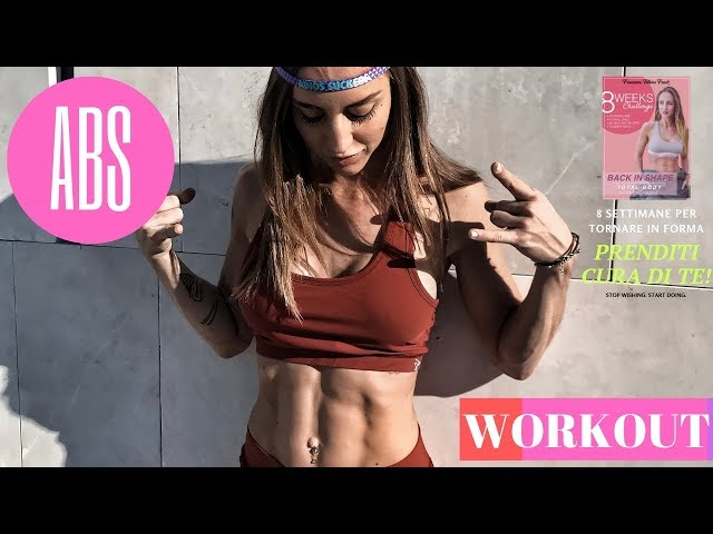 ABS w. FITBALL   #BACKINSHAPE 8 settimane per tornare in forma