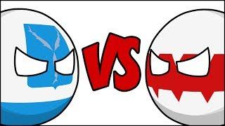 Саратов VS Омск ( Countryballs )