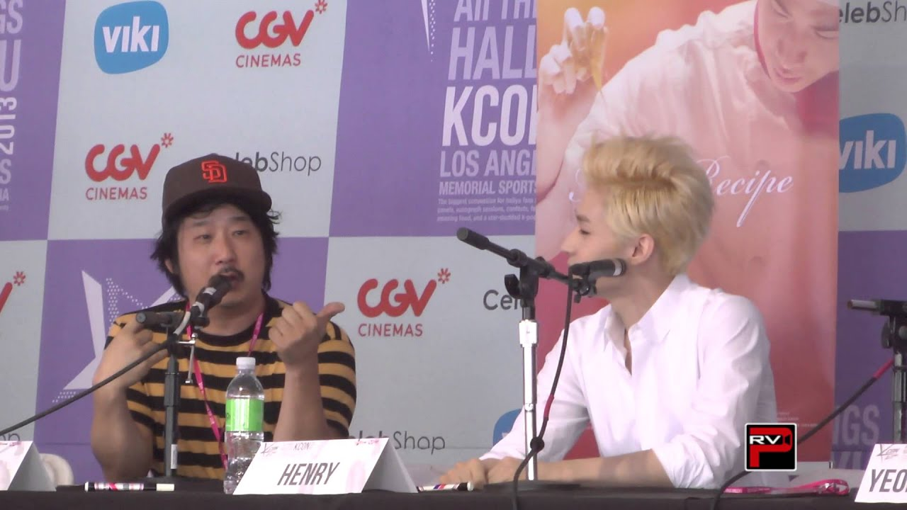 Henry of Super Junior and Bobby Lee talk Final Recipe Movie Clip 1 at KCON 2013 - YouTube