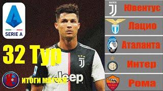 32 тур Серия А Чемпионат Италии 2019 2020 Итоги сыгранных матчей 32 тур расписание 33 го тура