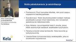 Kelan asiakaspalvelu ja palvelukanavat, Suunnittelun asiantuntija, Pia Härkönen