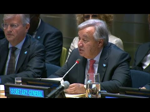 António Guterres (UN Secretary-General) at High-level meeting on Peacekeeping