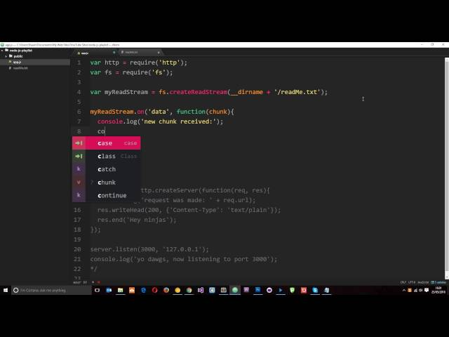 Node JS Tutorial for Beginners #14 - Readable Streams