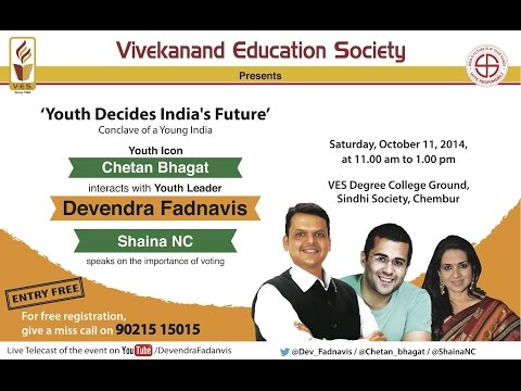 Chetan Bhagat Interacts with Devendra Fadnavis