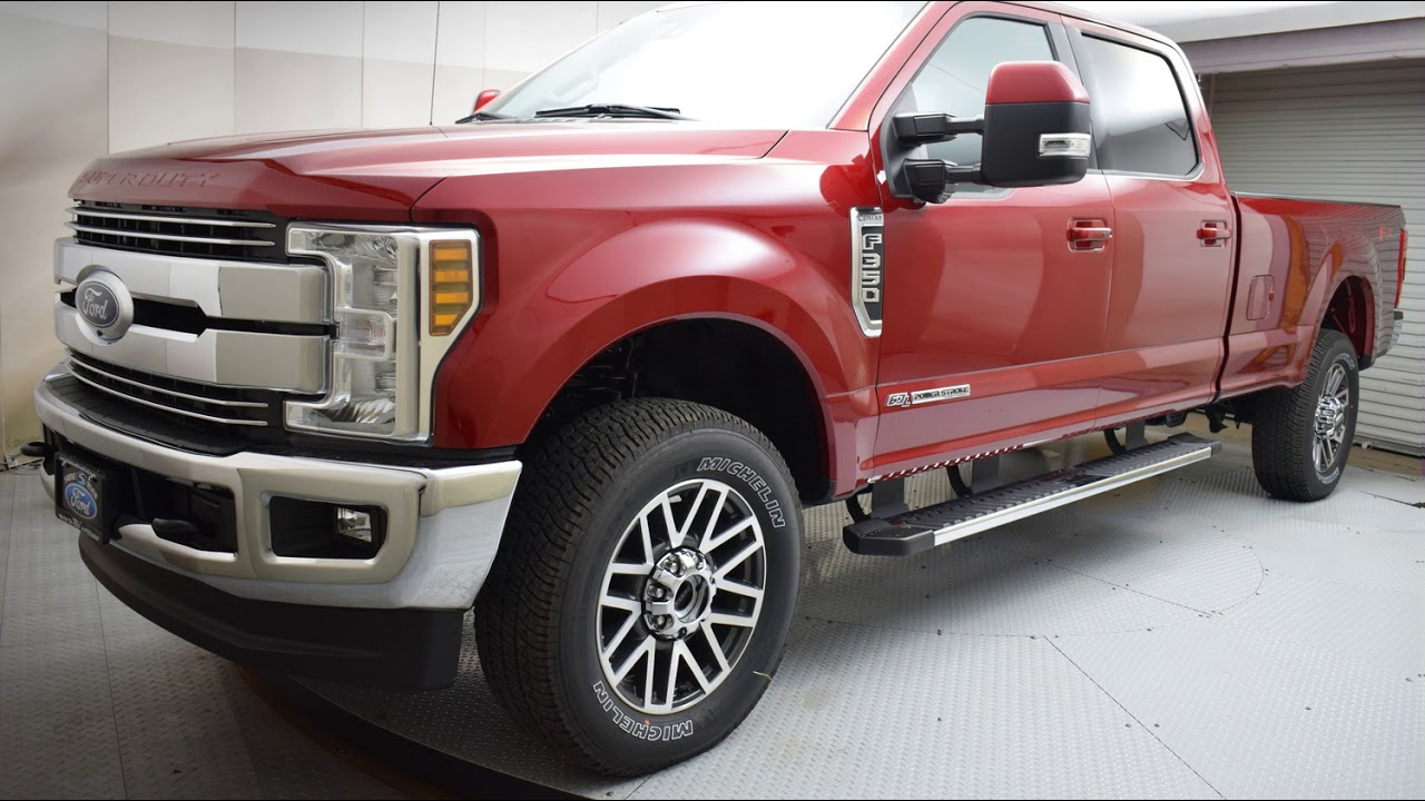 2018 ruby red ford f 350sd 4d crew cab 6959 youtube. Black Bedroom Furniture Sets. Home Design Ideas
