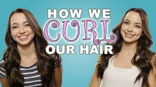 How We Curl Our Hair - Merrell Twins