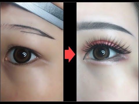Hướng dẫn kẻ mắt và kẻ chân mày | Easy Eyeliner and Eyebrow  Tutorial For Beginners