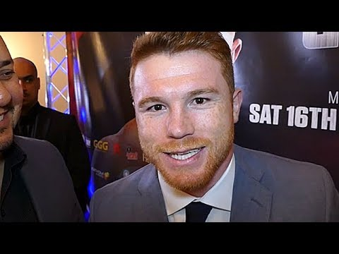 CANELO ALVAREZ SO CONFIDENT HE'LL BEAT GOLOVKIN, HE'S SPEAKING IN ENGLISH; MOTIVATED TO PROVE IT