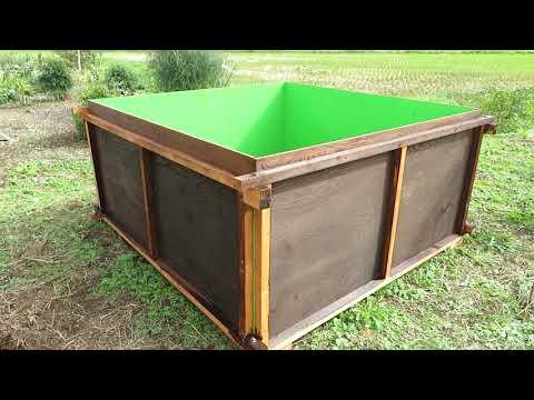 ビッグな堆肥箱完成とブルーベリー植え替え