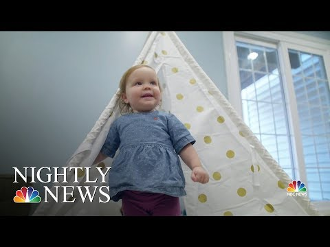 College Football Player Saves Young Girl's Life With Bone Marrow Donation | NBC Nightly News