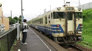 JR津軽線 津軽二股駅にて 発車するキハ48