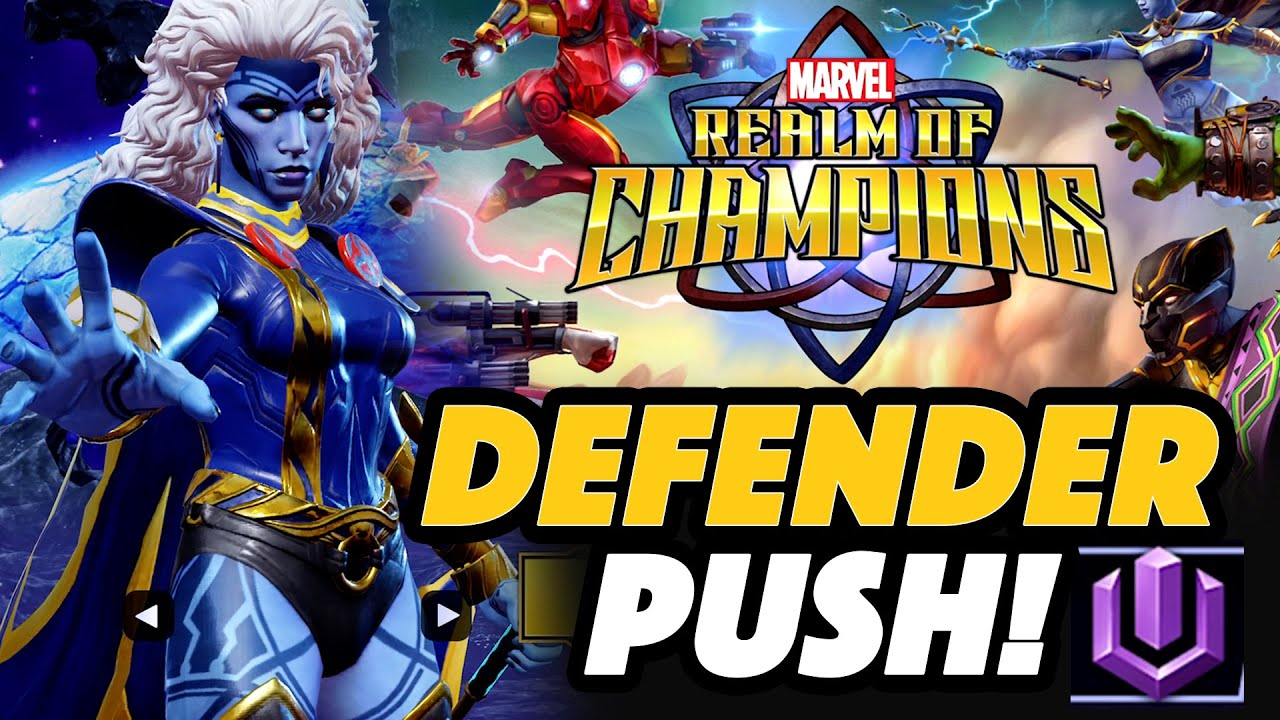 STORM Pyramid X Defender Push - Marvel Realm Of Champions